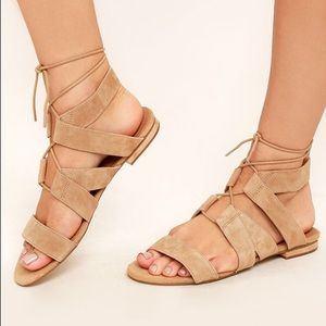 Steve Madden | Suede Lace-Up Sandals🤎
